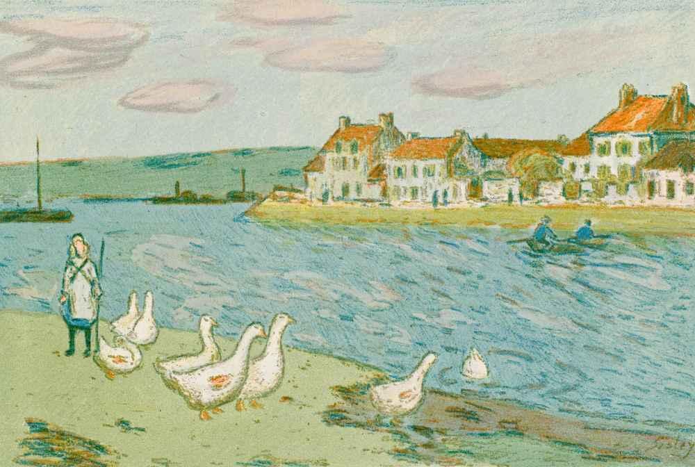 Banks of the River (Les Bords de rivière) - Alfred Sisley