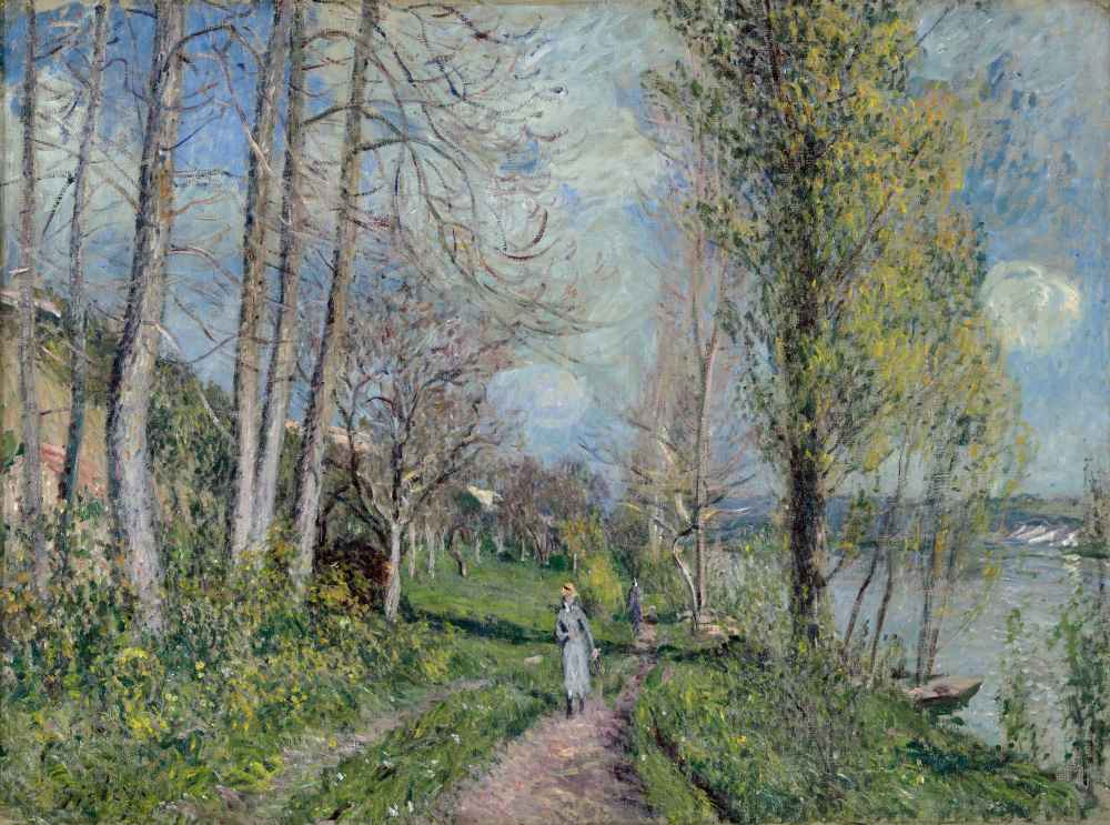 Banks of the Seine at By - Alfred Sisley