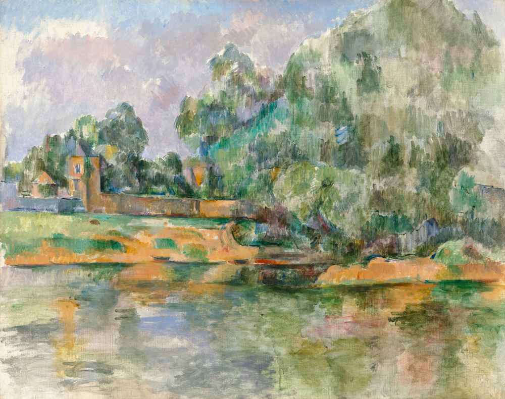 Banks of the Seine at Médan - Paul Cezanne