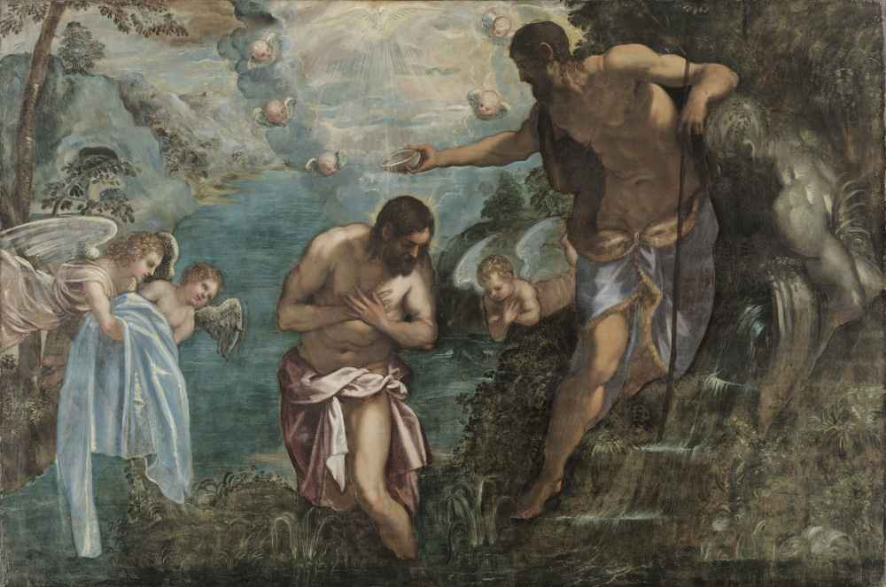 Baptism of Christ - Jacopo Tintoretto