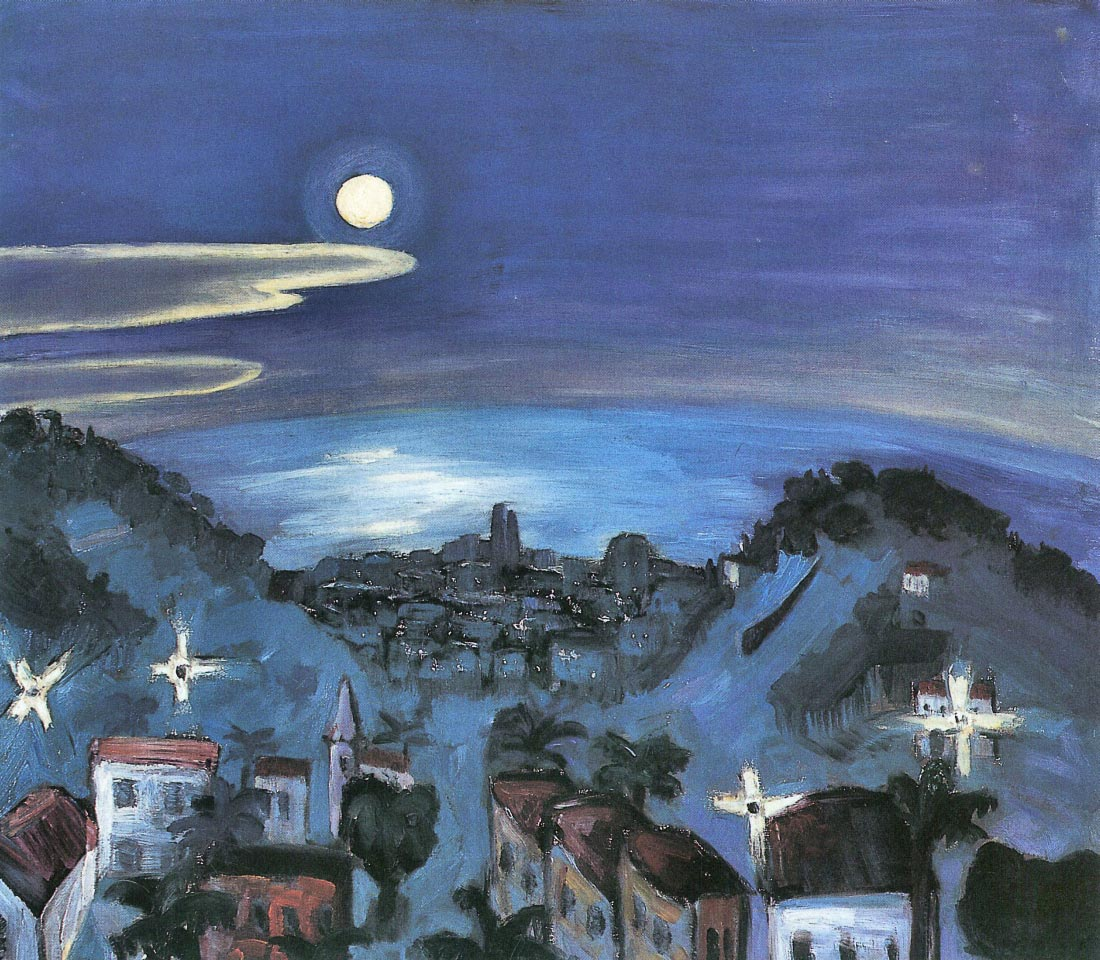 Barcelona (view of the city by night) - Walter Gramatte