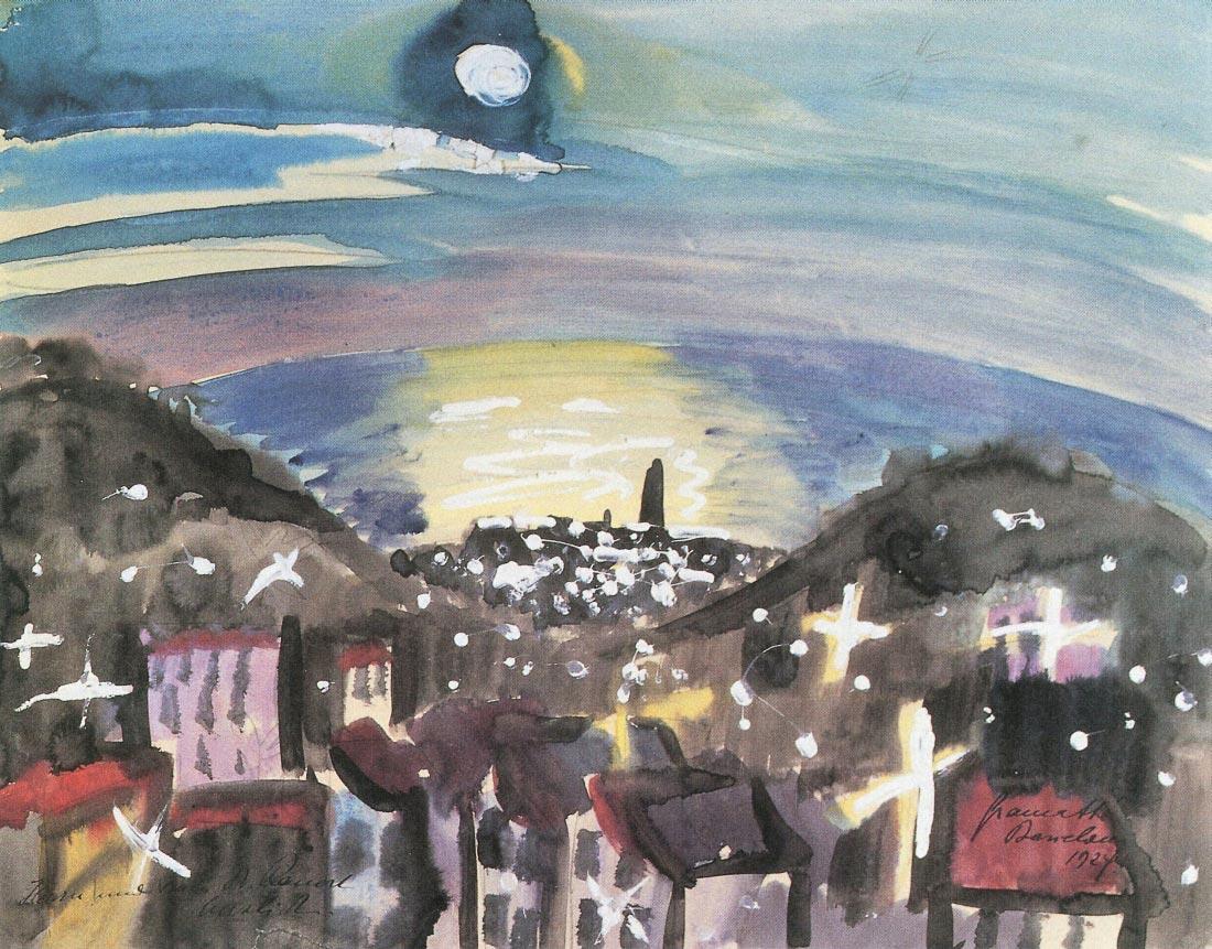 Barcelona at night (1st version) - Walter Gramatte