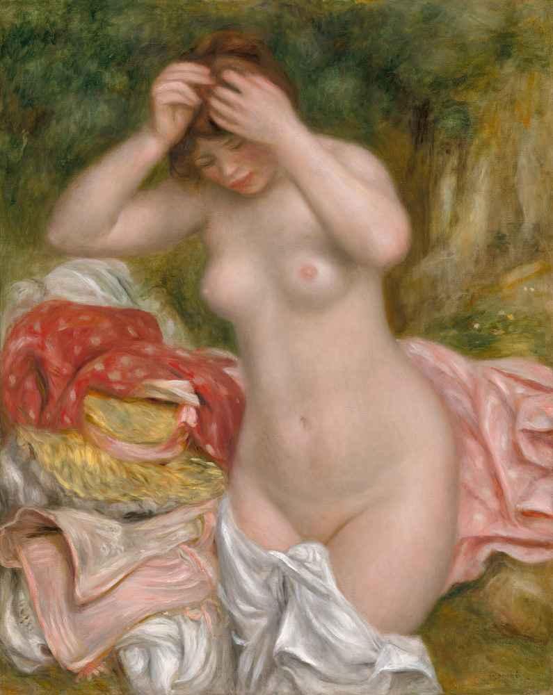 Bather Arranging Her Hair - Auguste Renoir