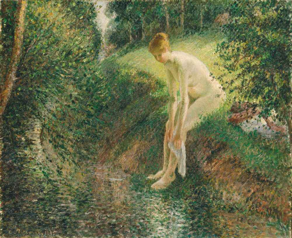 Bather in the Woods - Camille Pissarro