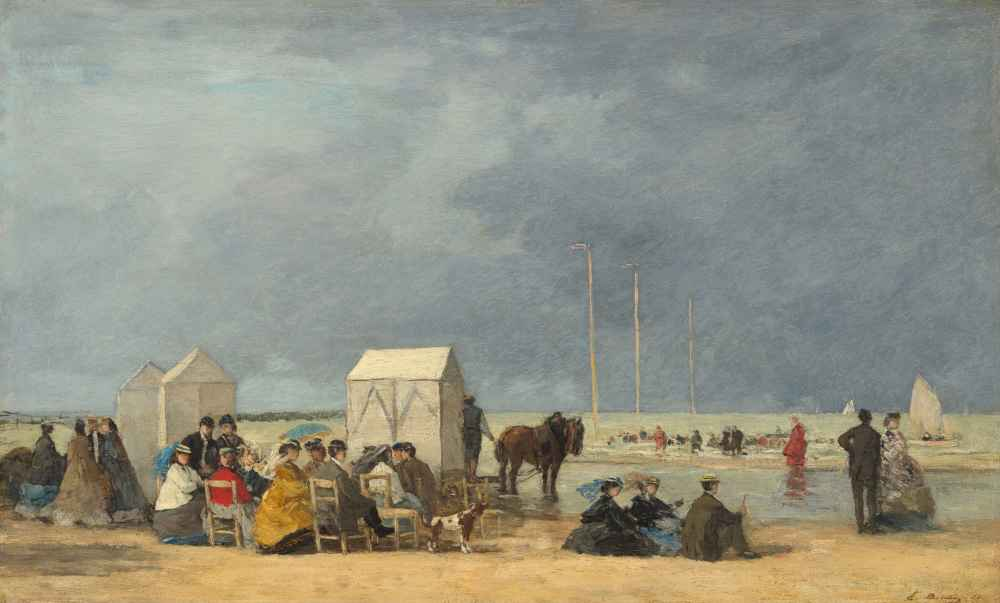 Bathing Time at Deauville 2 - Eugene Boudin