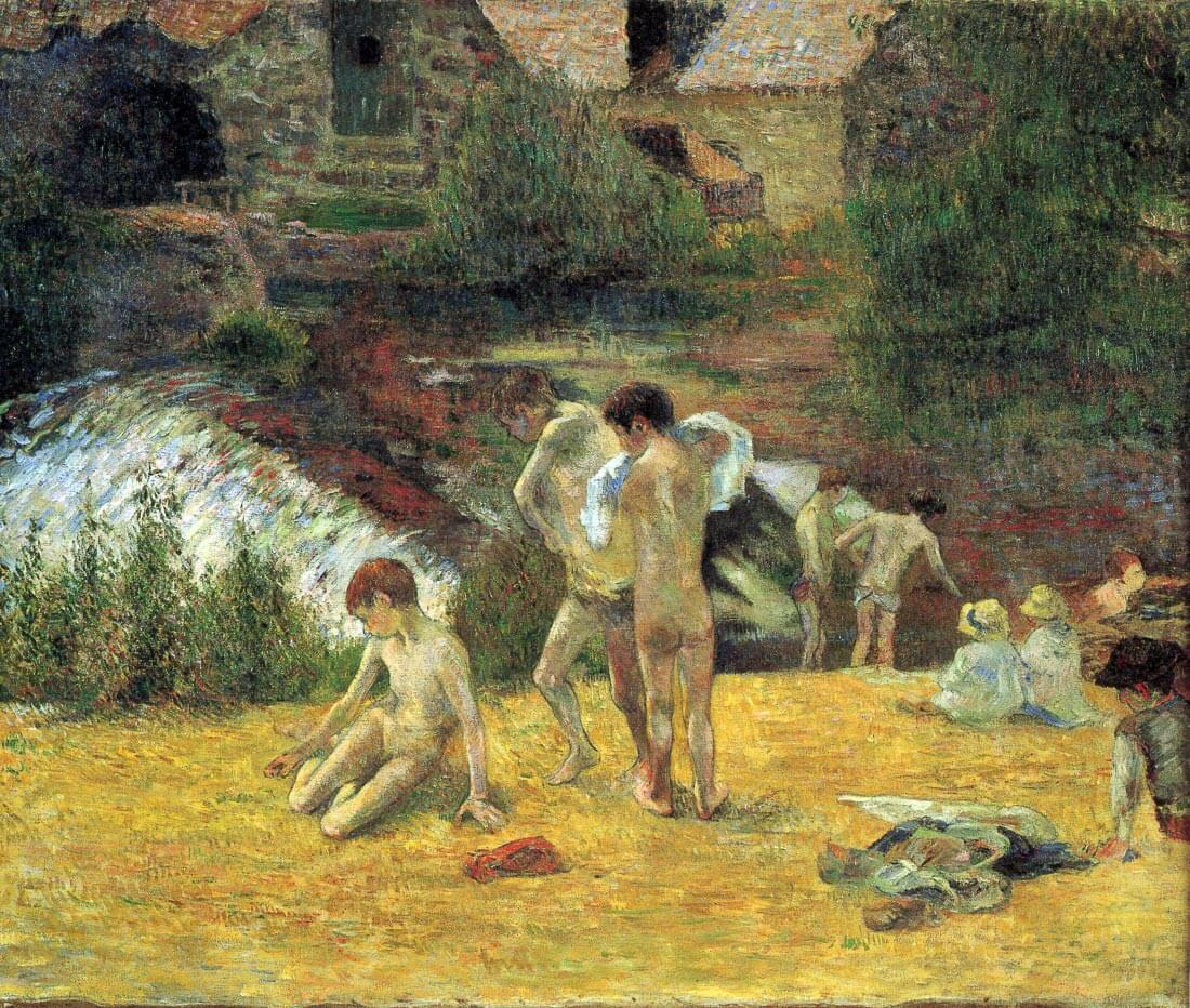 Bathing in the mill of Bois Amour - Gauguin