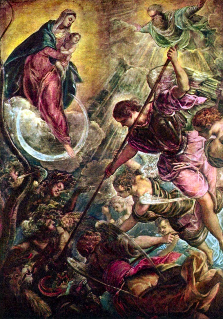 Battle of the Archangel Michael with Satan - Tintoretto