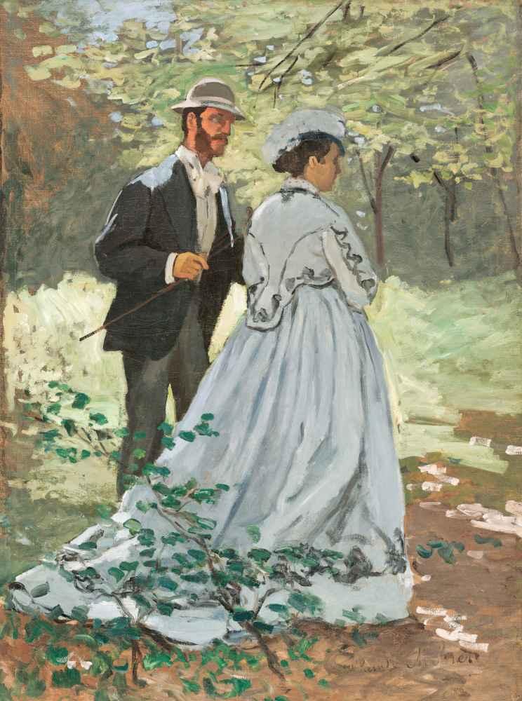 Bazille and Camille (Study for Déjeuner sur Herbe) - Claude Monet