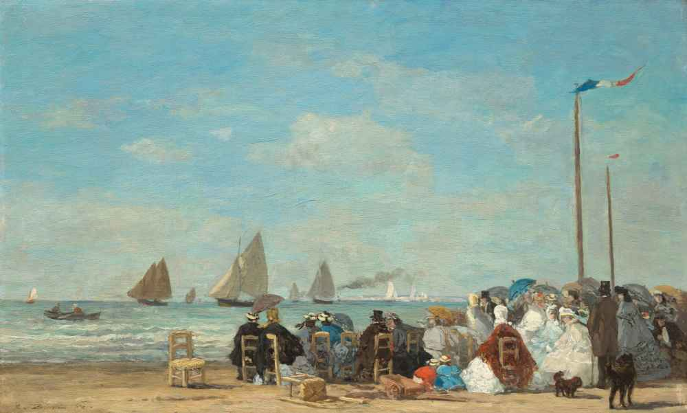 Beach Scene at Trouville - Eugene Boudin