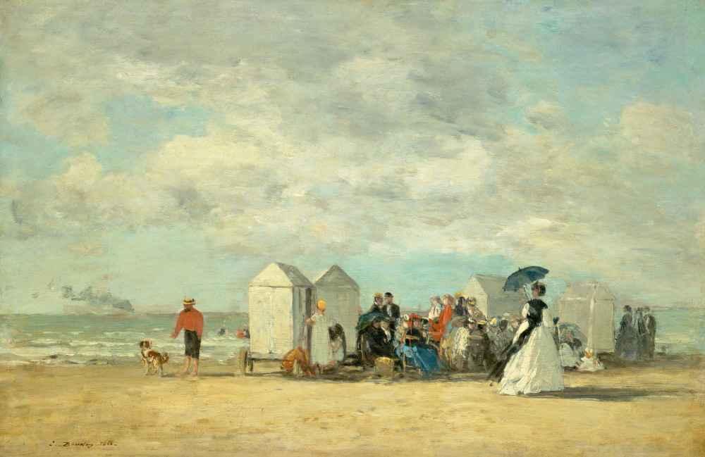 Beach Scene - Eugene Boudin