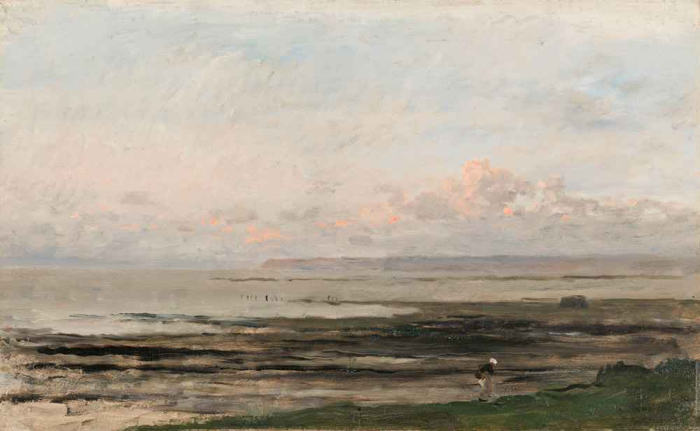 Beach at Ebb Tide - Charles-Francois Daubigny