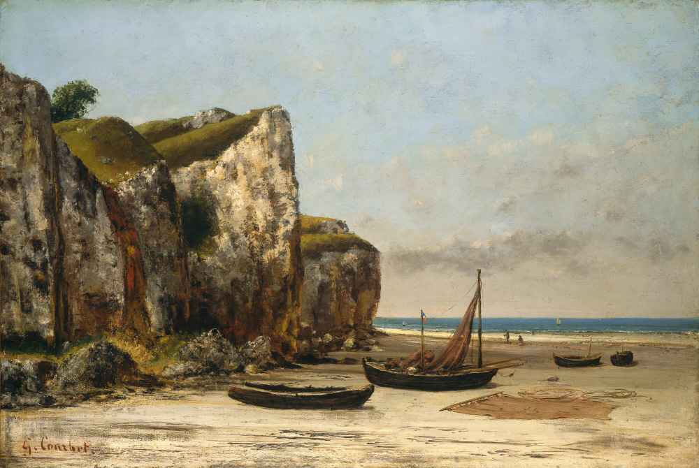 Beach in Normandy - Gustave Courbet