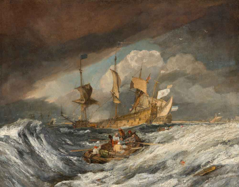Boats Carrying Out Anchors to the Dutch Men of War - Joseph Mallord Wi