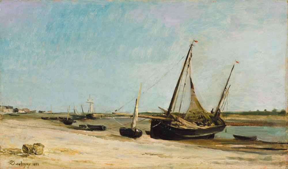 Boats on the Seacoast at Étaples - Charles-Francois Daubigny