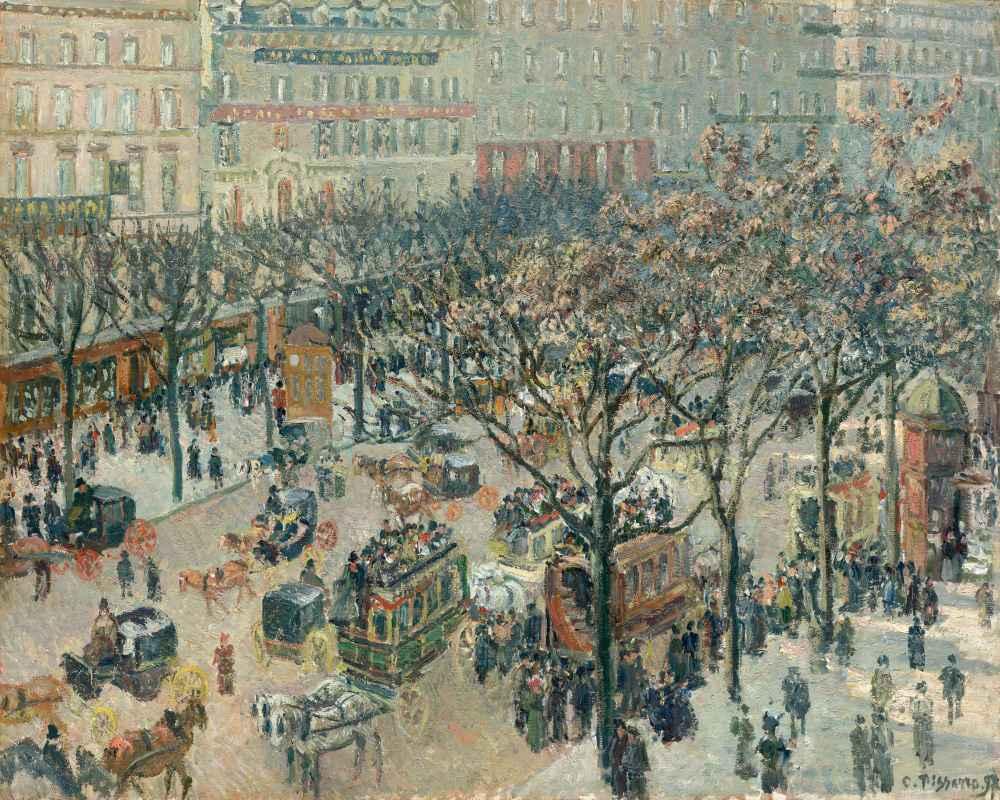 Boulevard des Italiens, Morning, Sunlight - Camille Pissarro
