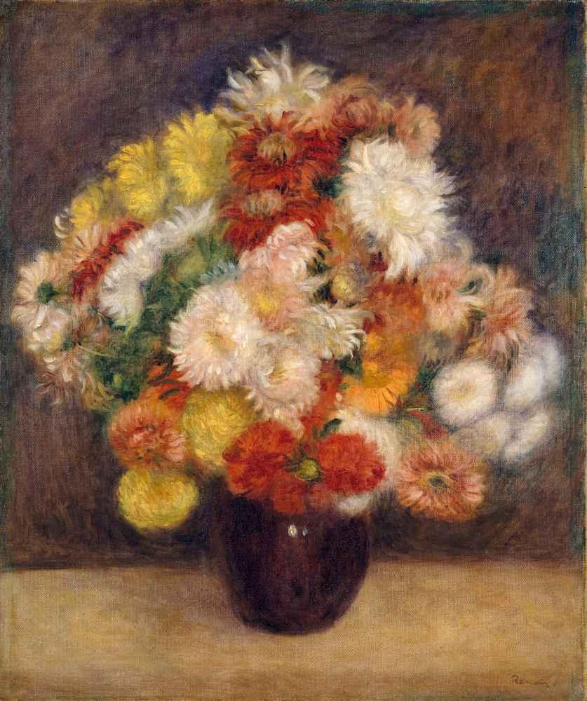 Bouquet of Chrysanthemums - Auguste Renoir