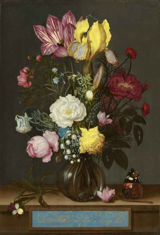 Bouquet of Flowers in a Glass Vase - Ambrosius Bosschaert