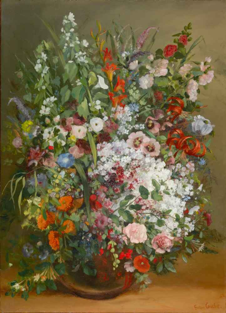 Bouquet of Flowers in a Vase - Gustave Courbet