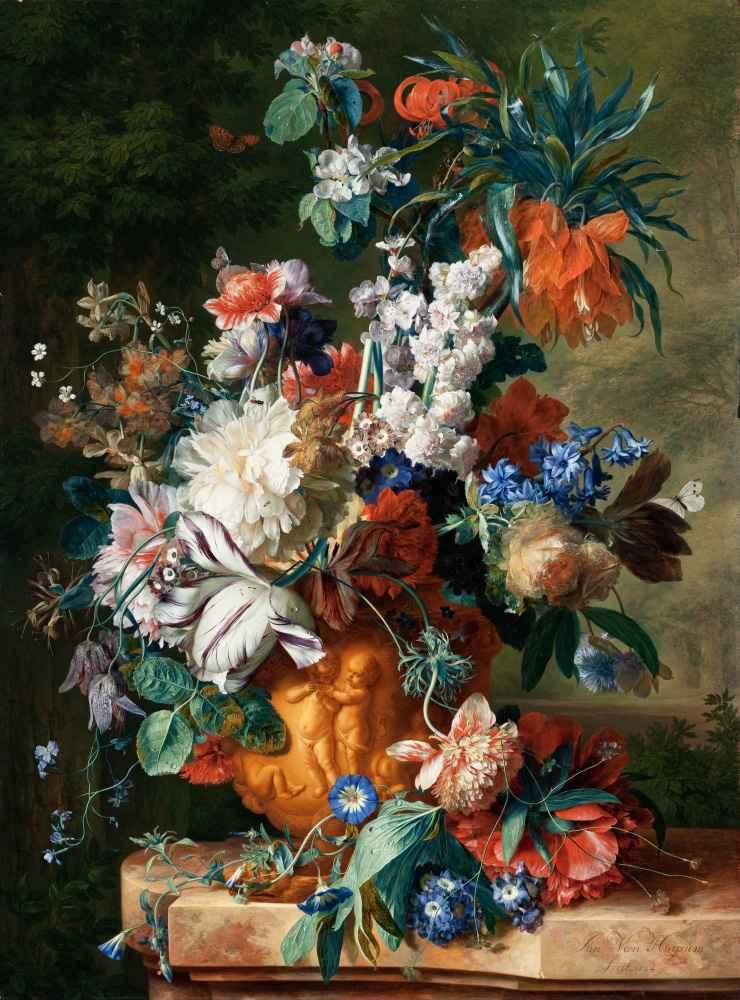 Bouquet of Flowers in an Urn - Jan van Huysum