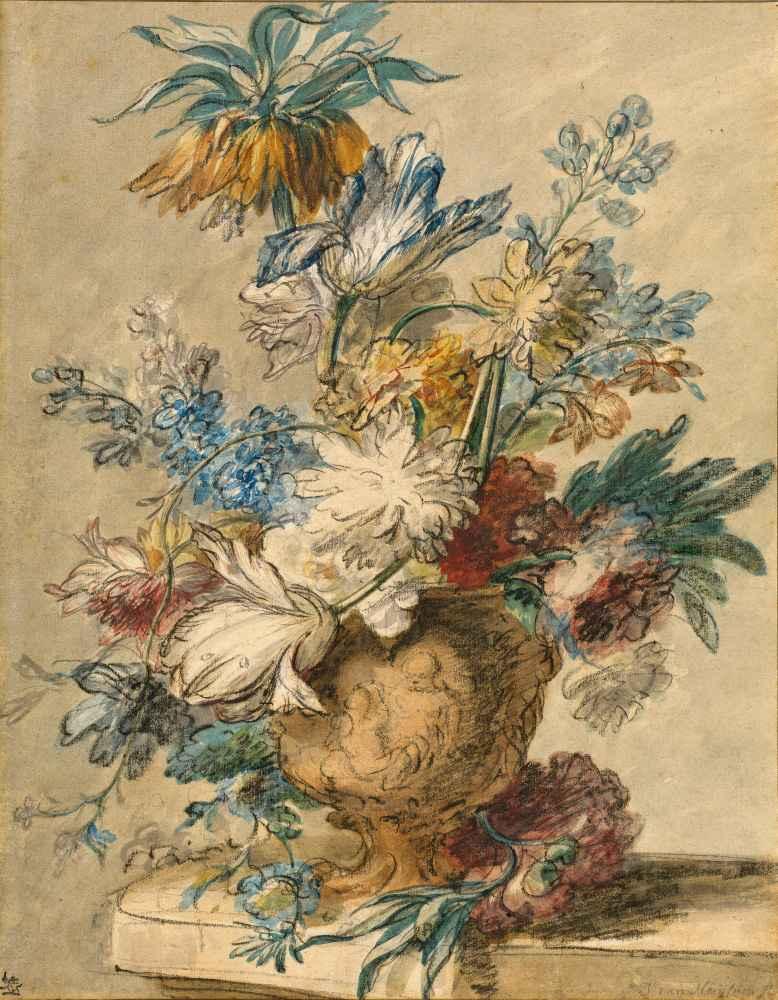 Bouquet of Spring Flowers in a Terracotta Vase - Jan van Huysum