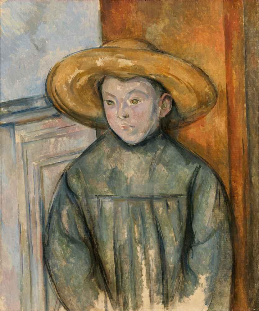 Boy With a Straw Hat - Paul Cezanne