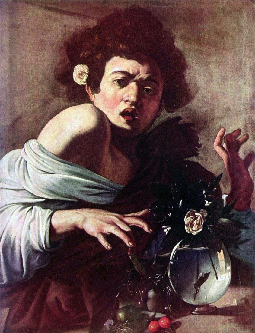 Boy bitten by a lizard - Caravaggio
