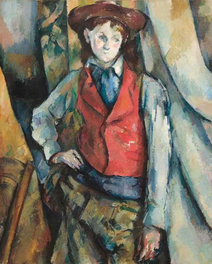 Boy in a Red Waistcoat - Paul Cezanne