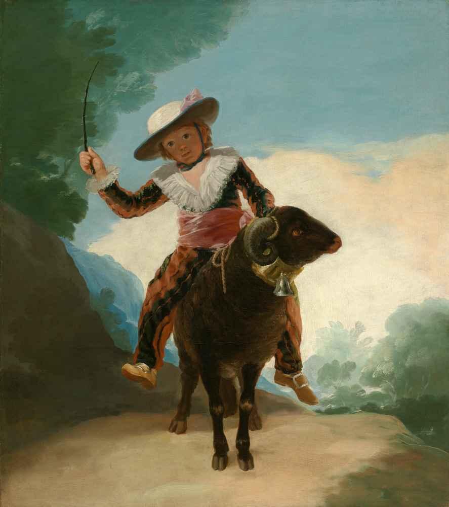 Boy on a Ram - Francisco Goya