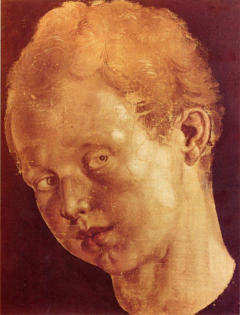 Boy s head tilted to the left - Durer