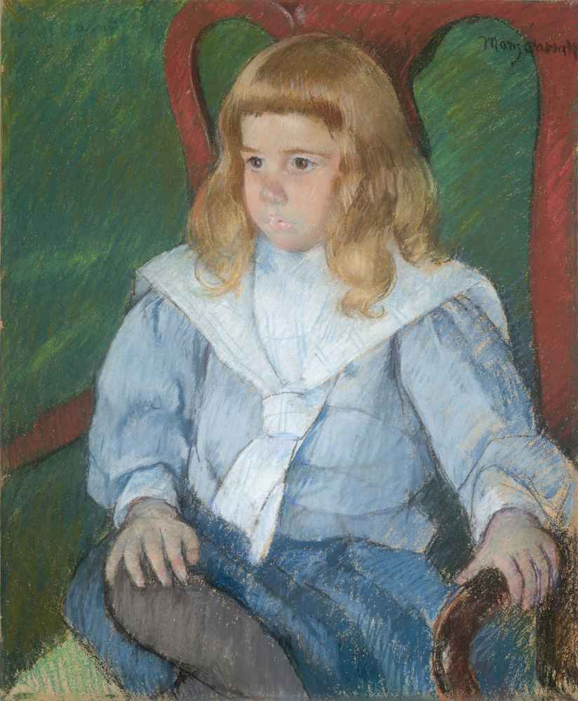 Boy with Golden Curls (Portrait of Harris Whittemore, Jr., B.A. 1918)
