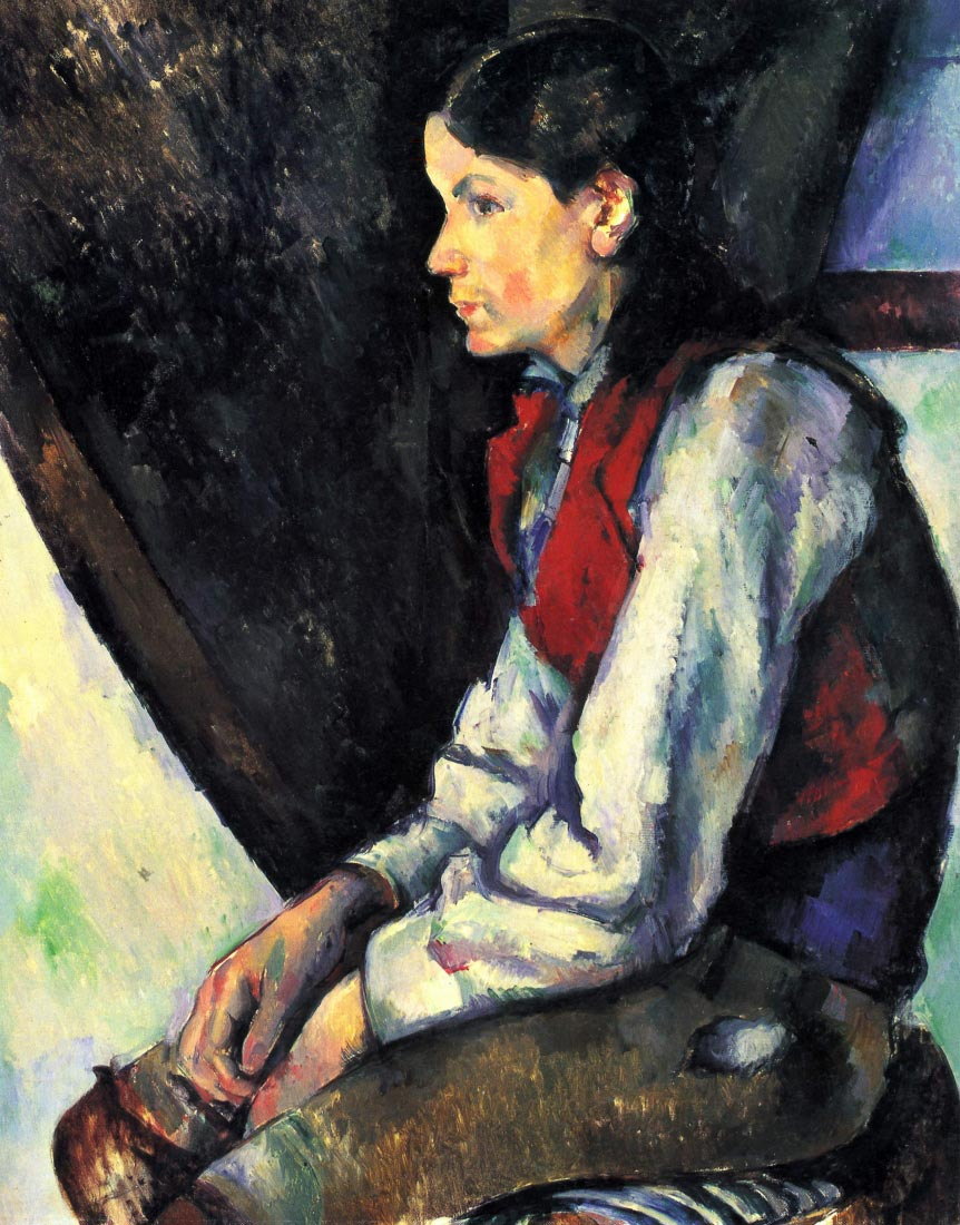 Boy with Red Vest - Cezanne