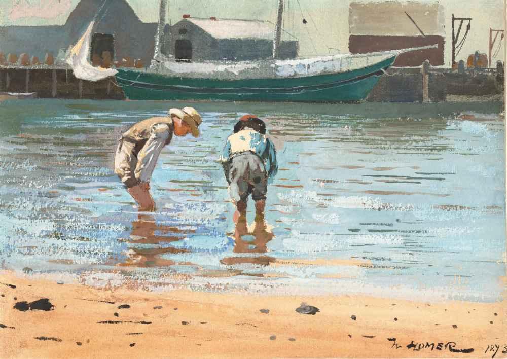 Boys Wading - Winslow Homer