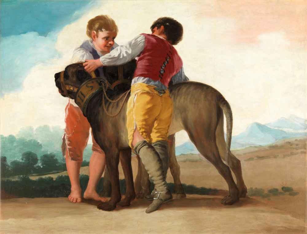 Boys with blood dogs 2 - Francisco Goya