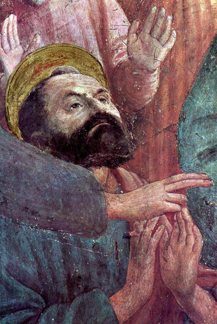 Brancacci Chapel - awakening Theophilus son - Masaccio