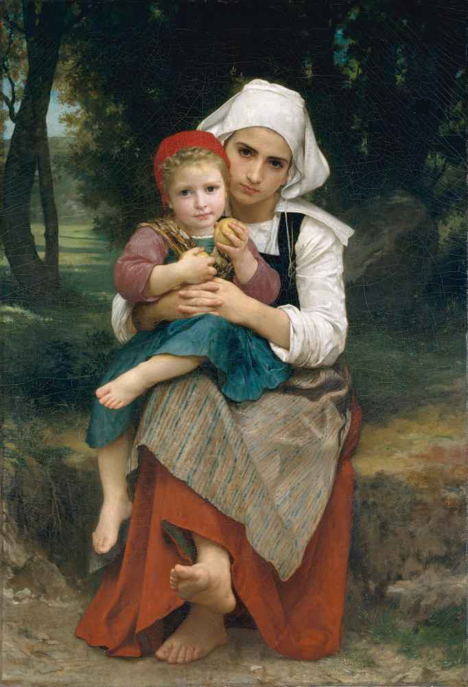 Breton Brother and Sister 2 - William-Adolphe Bouguereau