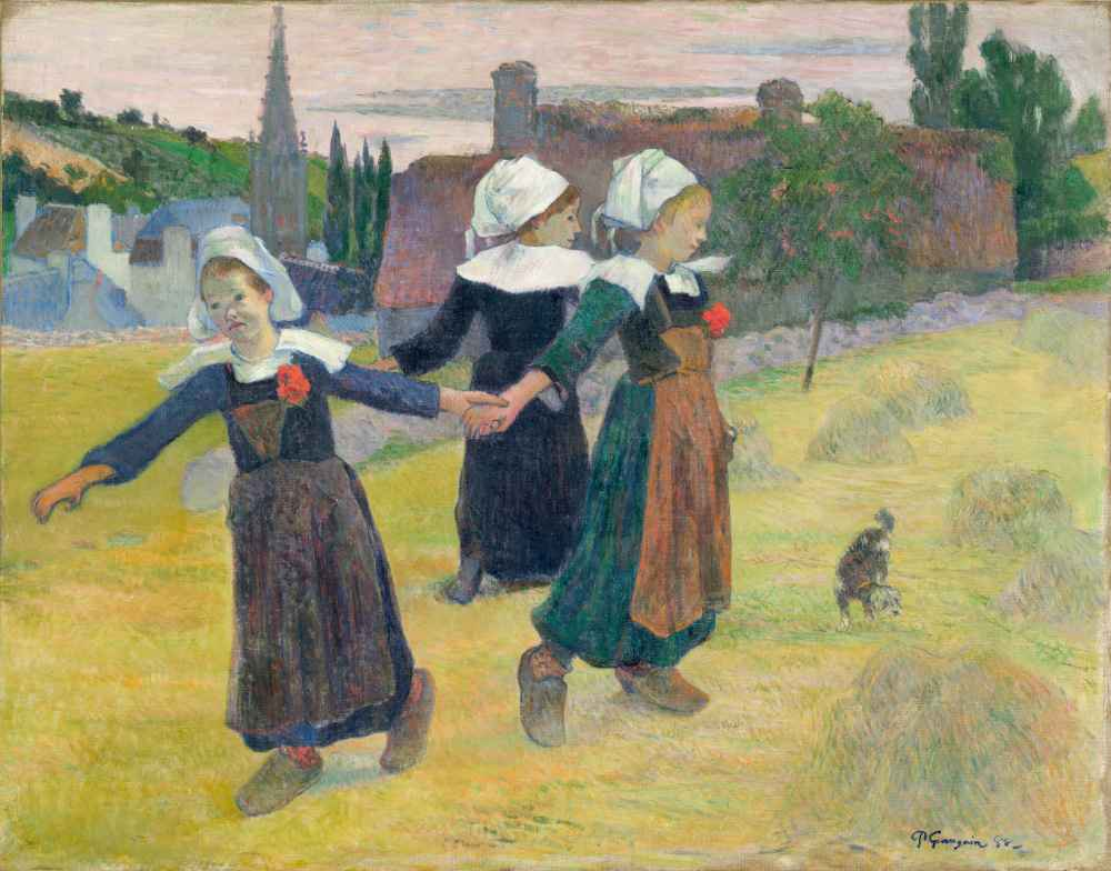 Breton Girls Dancing, Pont-Aven - Paul Gauguin