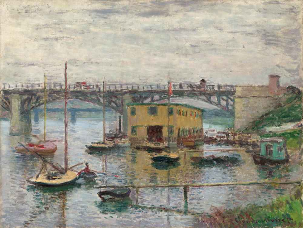 Bridge at Argenteuil on a Gray Day - Claude Monet