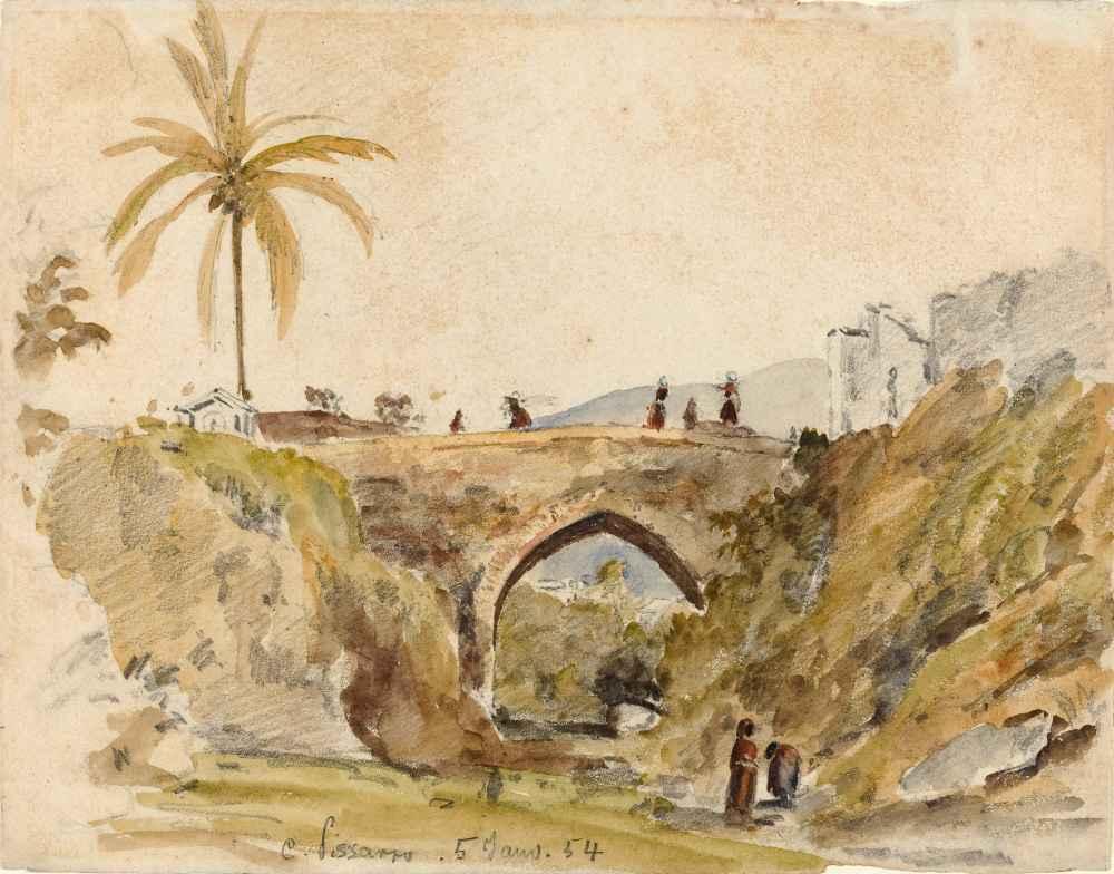 Bridge at Caracas - Camille Pissarro