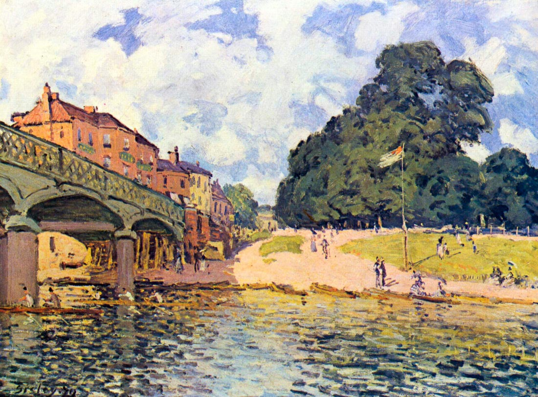 Bridge on Hampton Court - Sisley