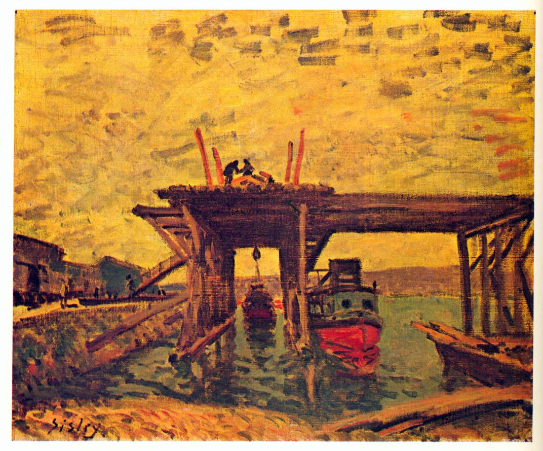 Bridge under construction - Sisley