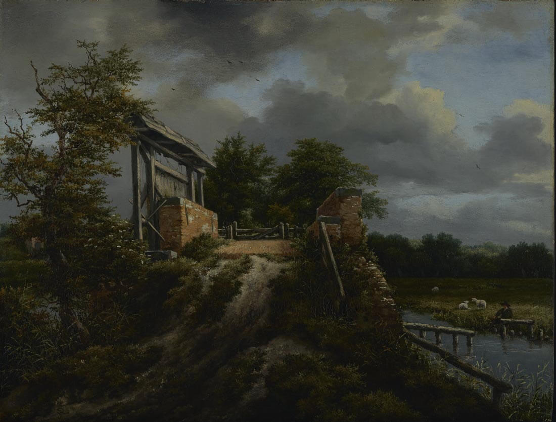 Bridge with Sluice - Jacob van Ruisdael