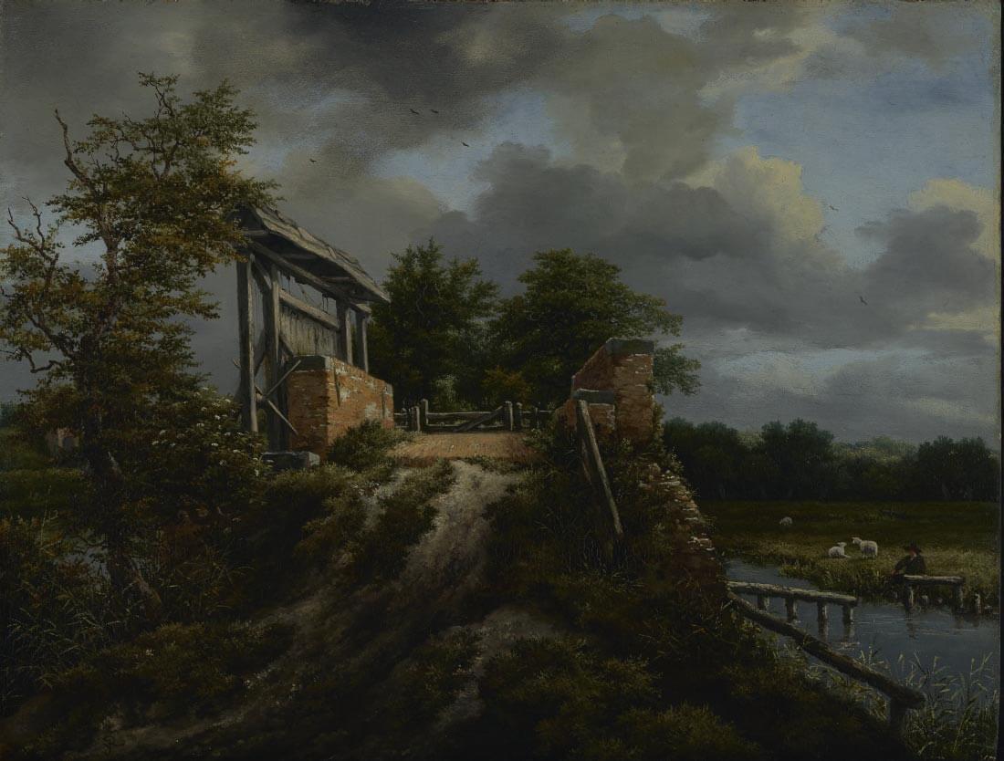 Bridge with Sluice - Jacob van Ruisdael
