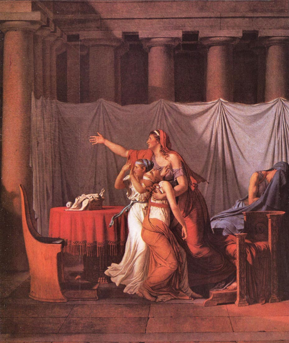 Brutus Liktoren bring his dead sons - Jacques Louis David