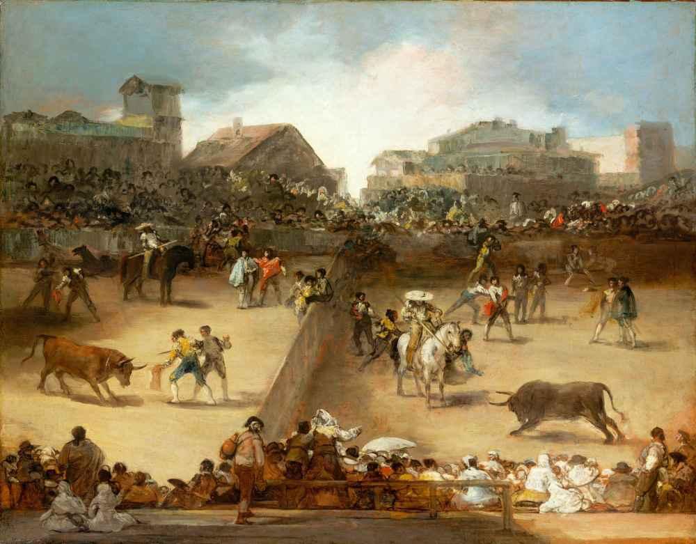 Bullfight in a Divided Ring - Francisco Goya