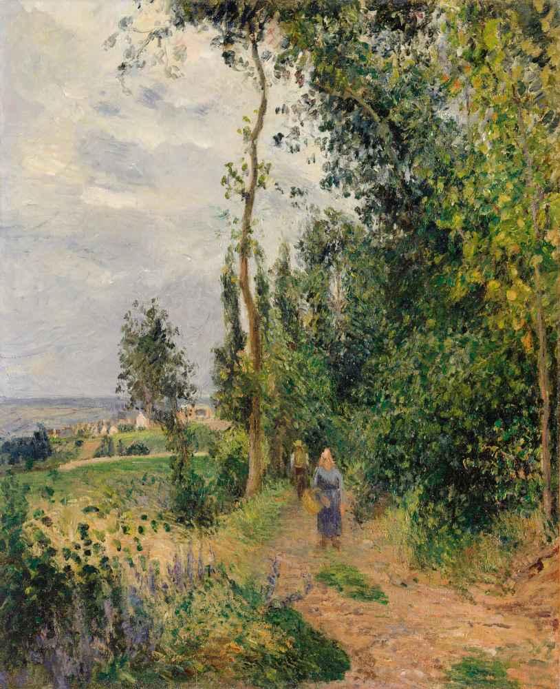 Côte des Grouettes, near Pontoise - Camille Pissarro