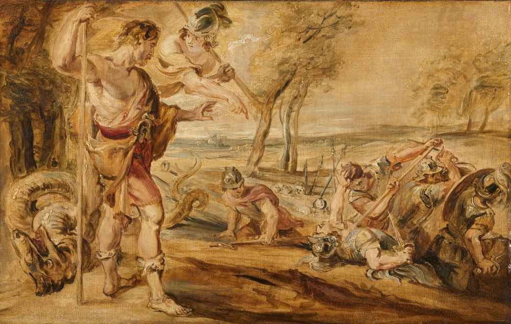 Cadmus, Guided by Minerva, Observes the Spartoi Fighting - Peter Paul
