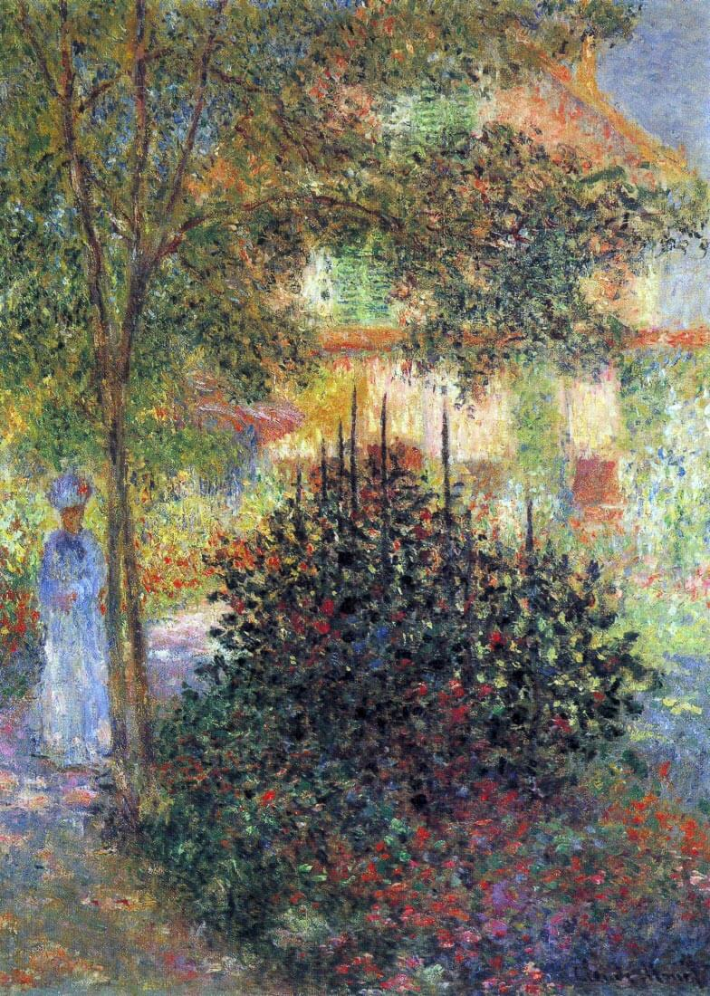 Camille in the garden of the house in Argenteuil - Monet