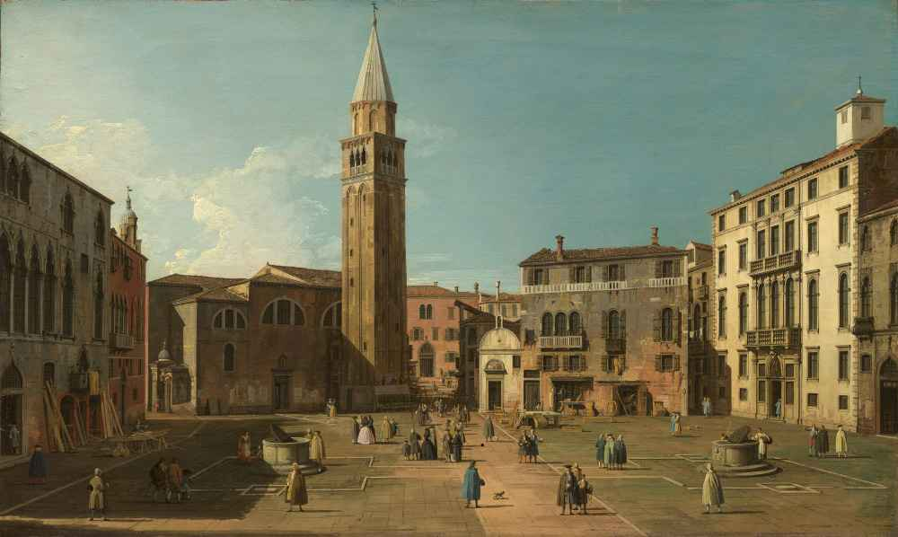 Campo SantAngelo, Venice - Canaletto - Bernardo Bellotto