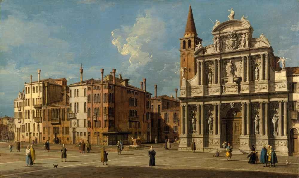 Campo Santa Maria Zobenigo, Venice - Canaletto - Bernardo Bellotto