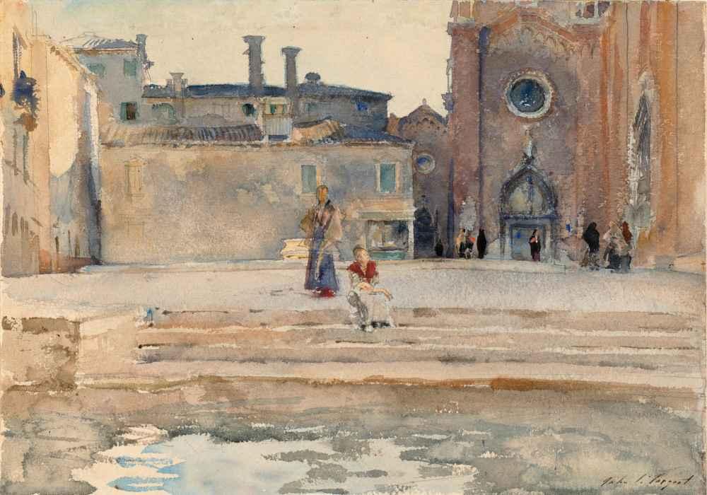 Campo dei Frari, Venice - John Singer Sargent